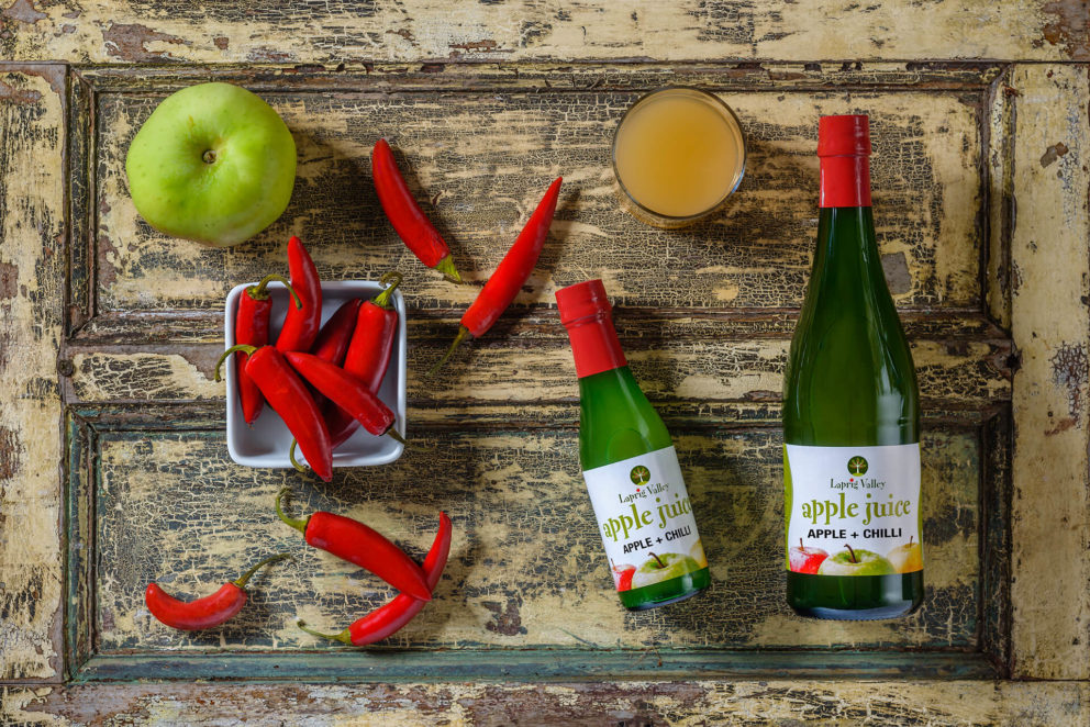 Apple and Chilli Juice bottles