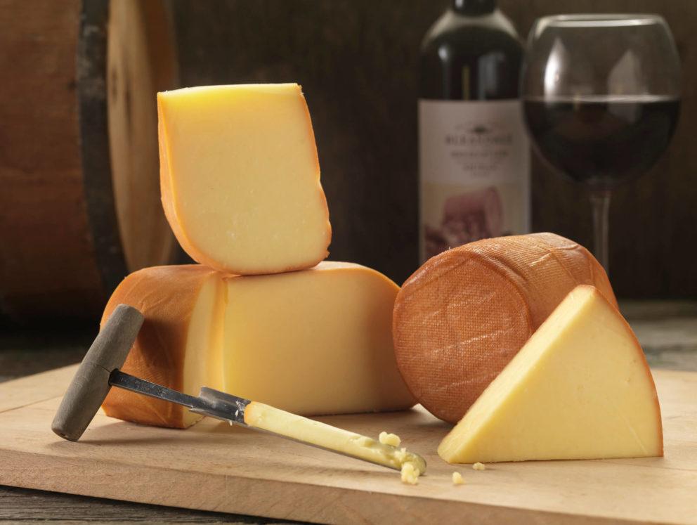 Smoked cheese board