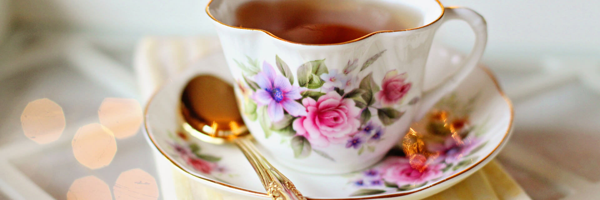 A cup of tea in china cup