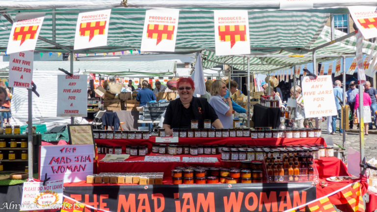 The Mad Jam Woman's stall