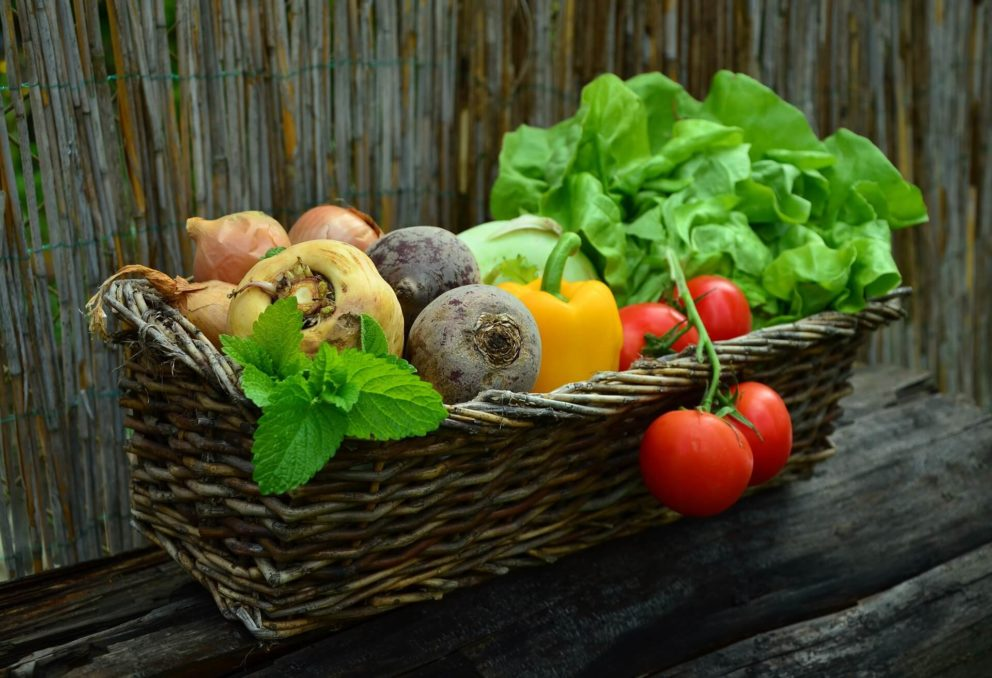 A basket of fruit and veg