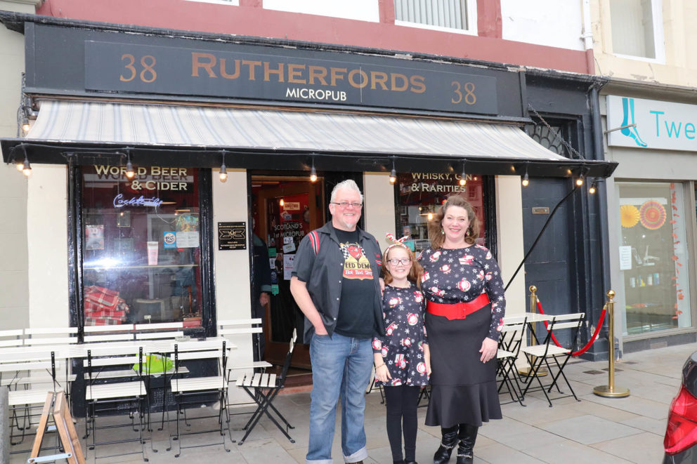 The Rutherford family provide a warm welcome to their micropub in Kelso