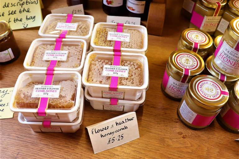 Bespoke Heather Comb Honey by Chain Bridge Honey Farm is honey in its most natural form