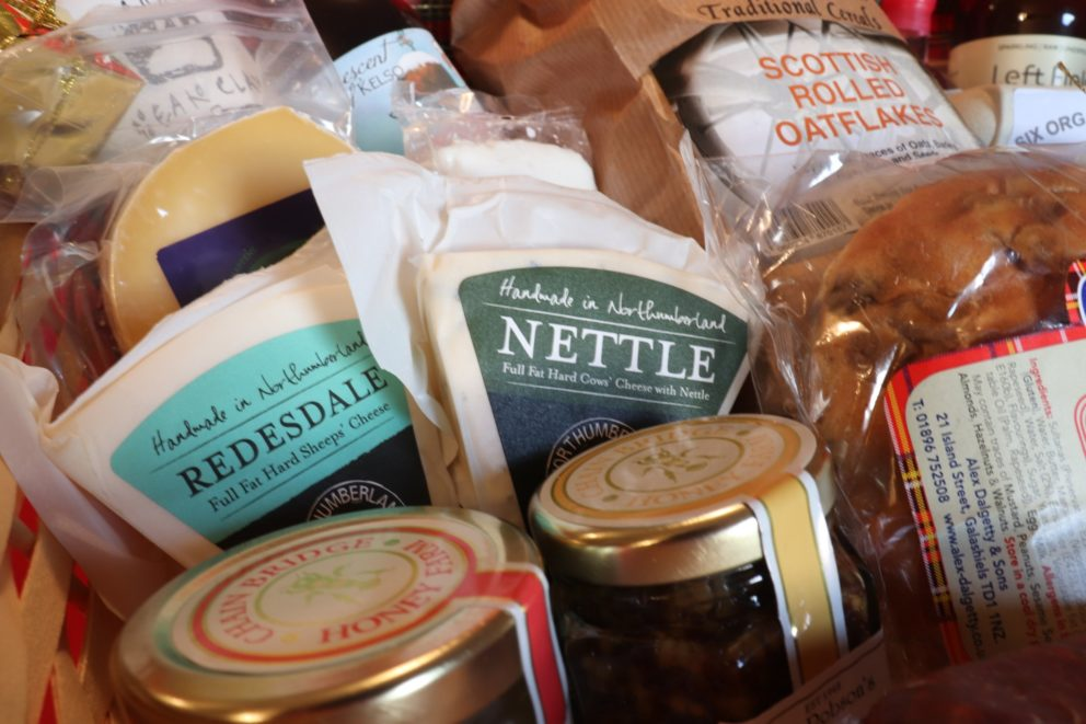 Local cheese included in the hamper