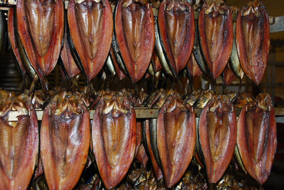 Craster kippers curing