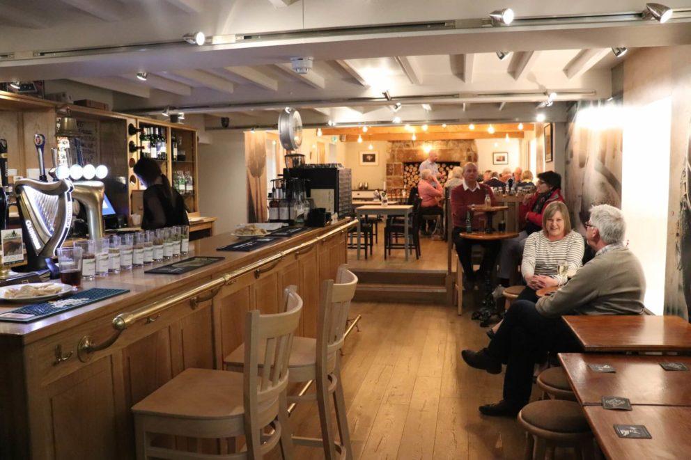 Inside the Black Bull pub