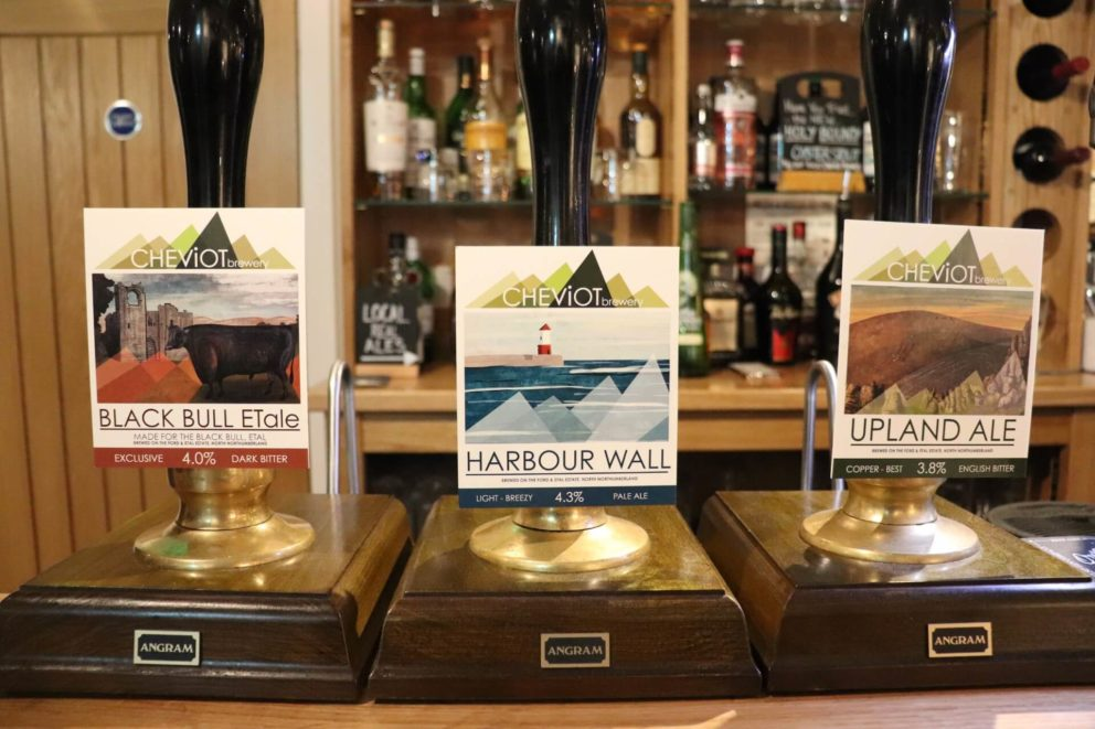 Ales on tap at the pub