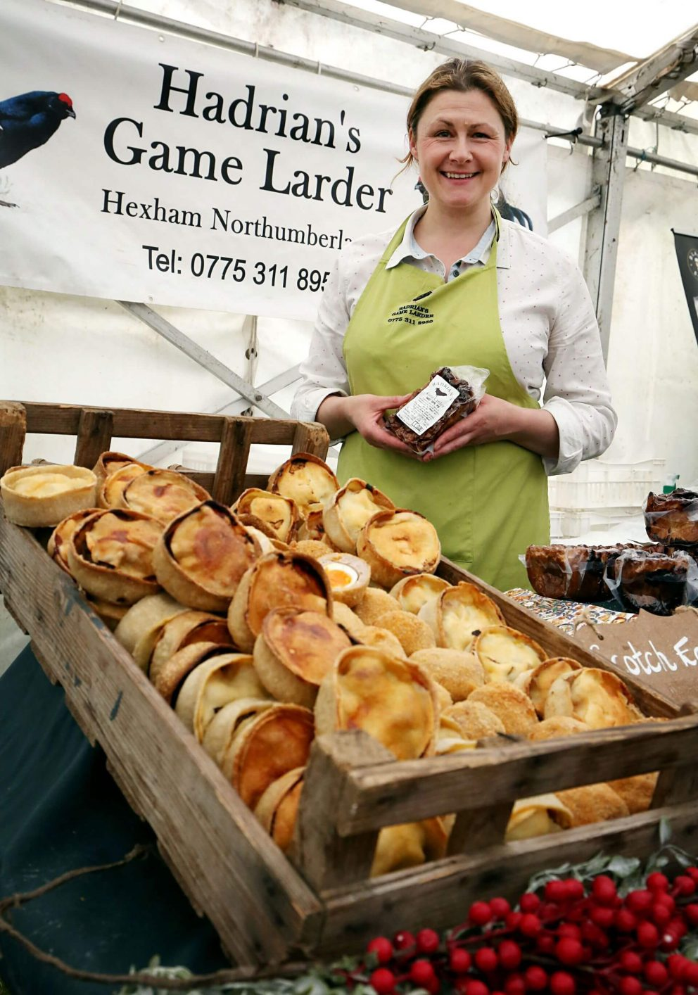 Pies from Hadrian's Game Larder stall